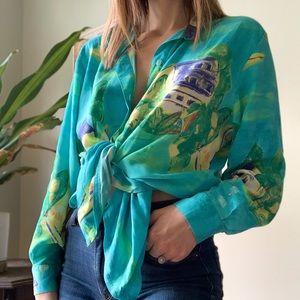 Vintage SeaSuns button down blouse